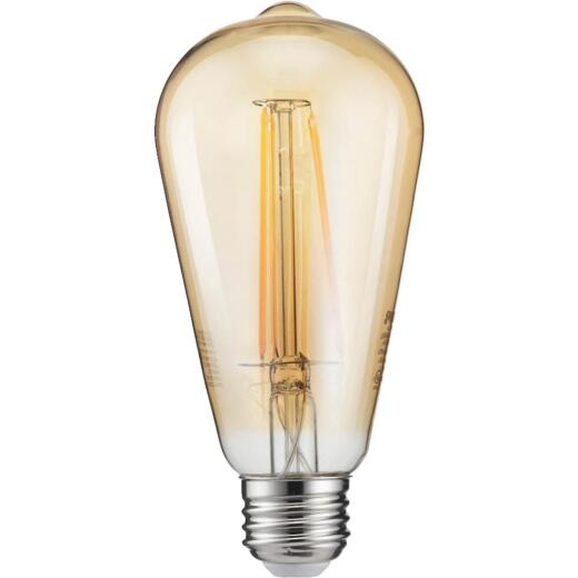 Philips Vintage Edison 40W Equivalent Soft White ST19 Medium LED Decorative Light Bulb